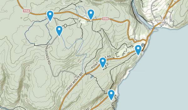 Mitchells Corner, New Brunswick Map