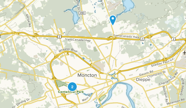 Moncton, New Brunswick Map
