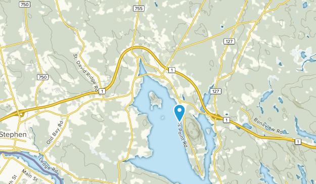 Oak Bay, New Brunswick Map