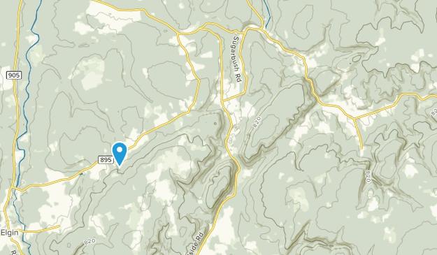 Prosser Brook, New Brunswick Map