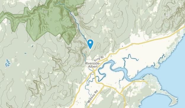 Riverside-Albert, New Brunswick Map
