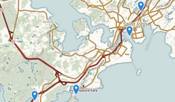 Saint John, New Brunswick Map