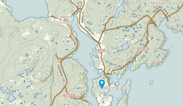 Burin Bay Arm, Newfoundland and Labrador Map