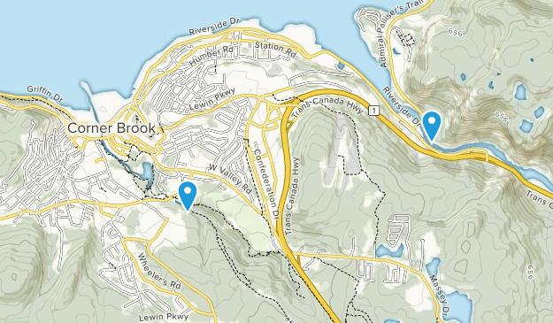 Corner Brook, Newfoundland and Labrador Map