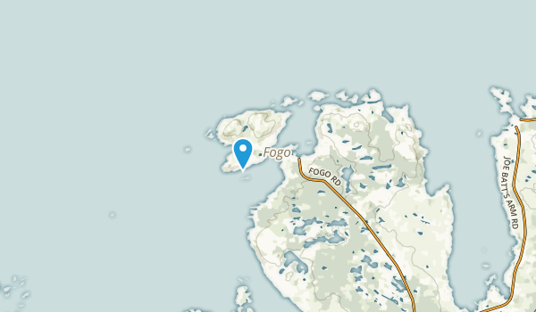 Fogo Island, Newfoundland and Labrador Map