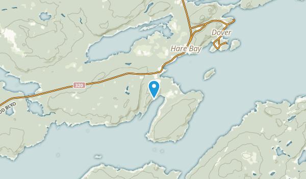 Hare Bay, Newfoundland and Labrador Map