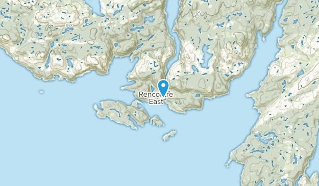 Rencontre East, Newfoundland and Labrador Map