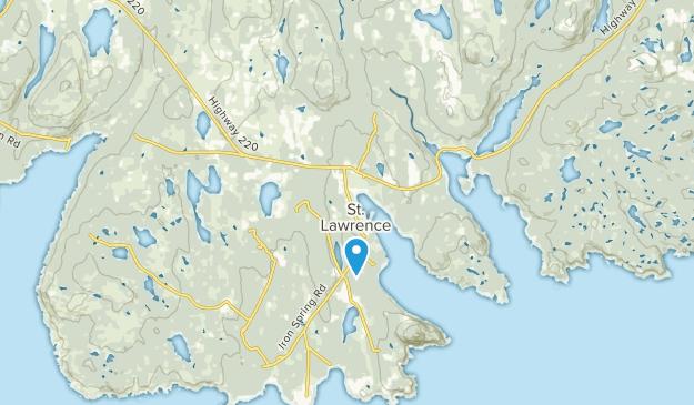Saint Lawrence, Newfoundland and Labrador Map