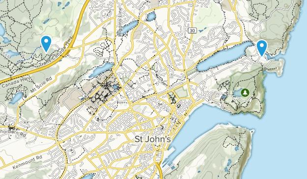 St. John's, Newfoundland and Labrador Map