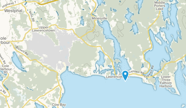 Lawrencetown, Nova Scotia Map