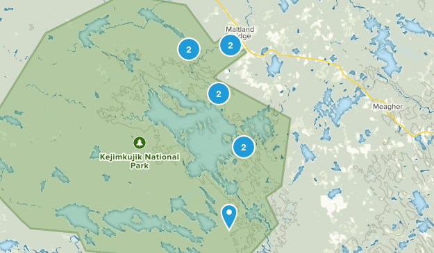 Maitland Bridge, Nova Scotia Map