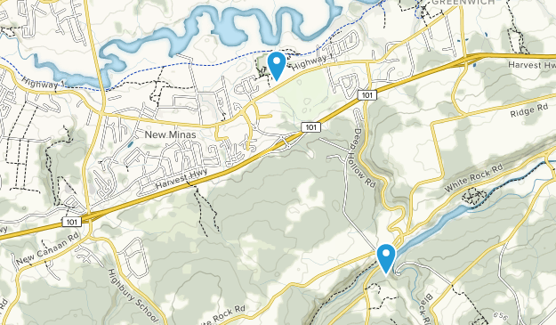 New Minas, Nova Scotia Map