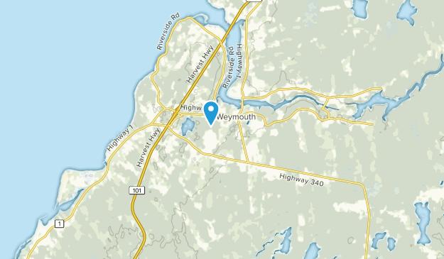Weymouth, Nova Scotia Map