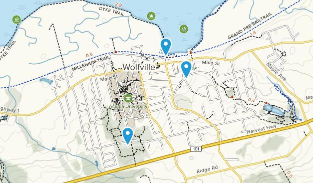 Wolfville, Nova Scotia Map