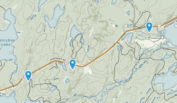 Algonquin Park, Ontario Map