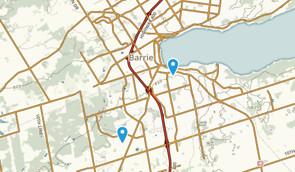Barrie, Ontario Map