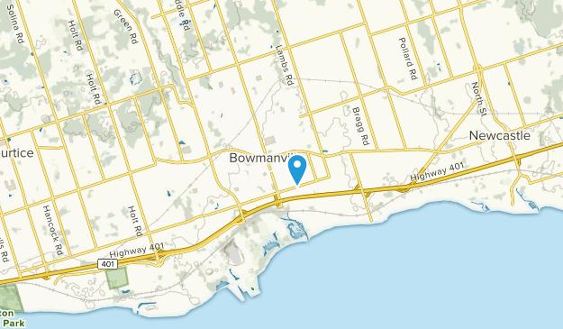 Bowmanville, Ontario Map