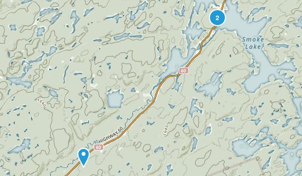 Canoe Lake, Ontario Map