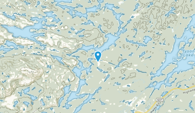 Collins Inlet, Ontario Map