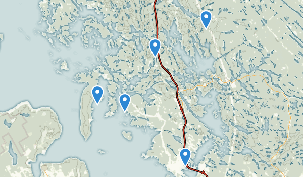 trail locations for Georgian Bay, Ontario