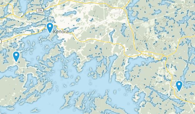 Kenora, Ontario Map