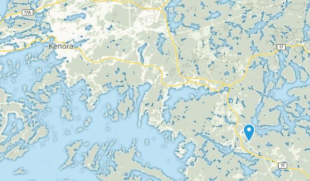 Kenora District, Ontario Map