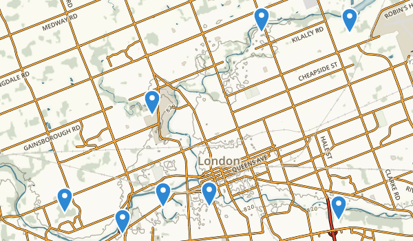 London, Ontario Map