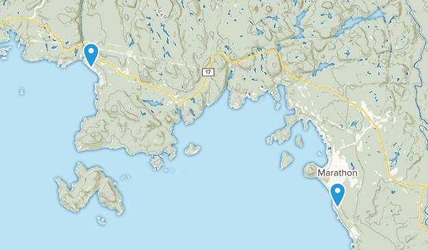Marathon, Ontario Map