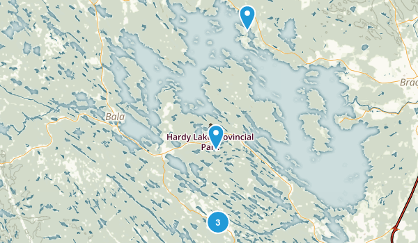 Muskoka Lakes, Ontario Map