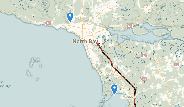 North Bay, Ontario Map