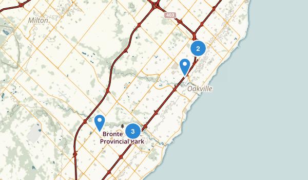 Oakville, Ontario Map
