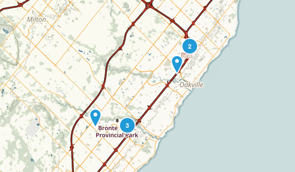 Oakville, Ontario Map