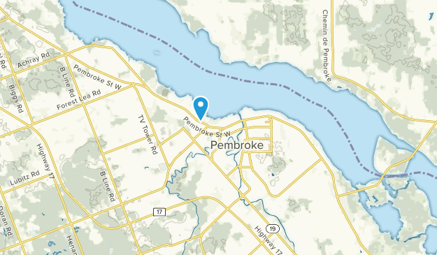 Map Of Pembroke Ontario
