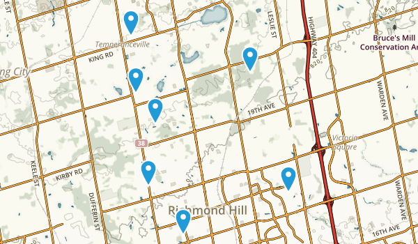 Richmond Hill, Ontario Map