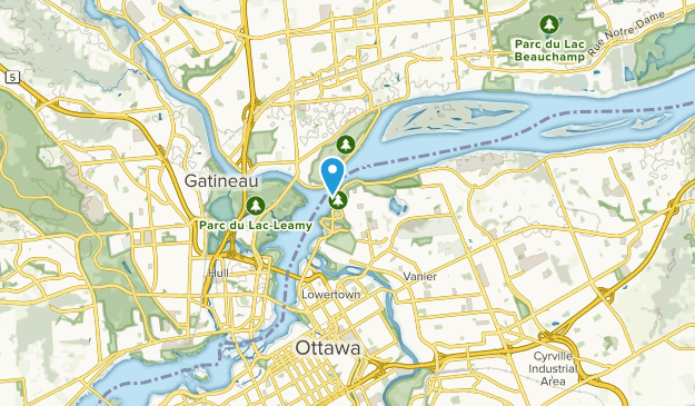 Rockcliffe Park, Ontario Map
