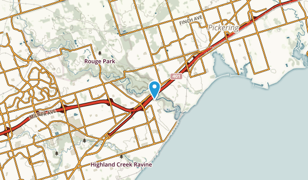 Rouge Hill, Ontario Map