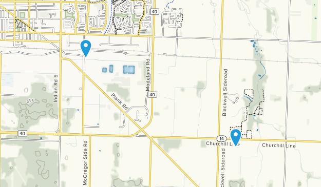Sarnia, Ontario Map