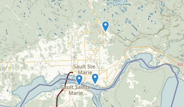 Sault Ste Marie, Ontario Map