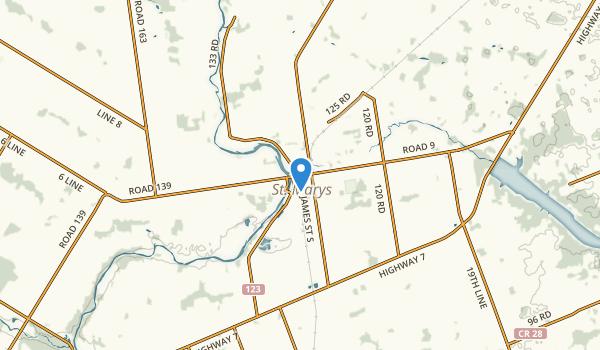 St Marys, Ontario Map