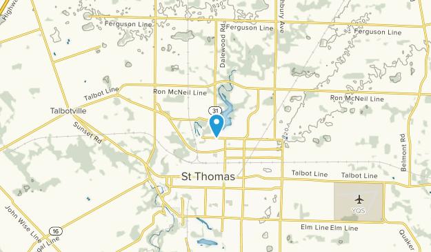 St Thomas, Ontario Map
