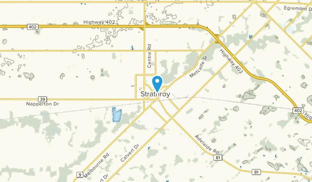 Strathroy, Ontario Map
