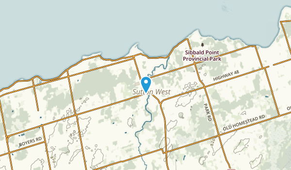Sutton, Ontario Map