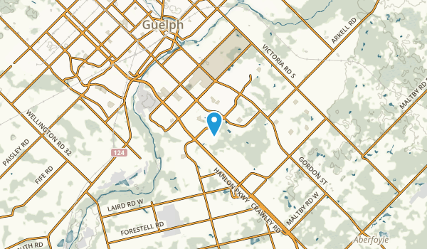 University of Guelph, Ontario Map