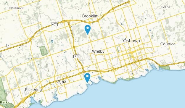 Whitby, Ontario Map