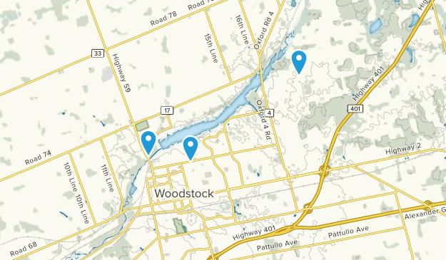 Map Woodstock Ontario