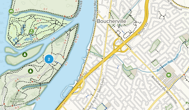 Boucherville, Quebec Map