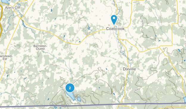 Coaticook, Quebec Map