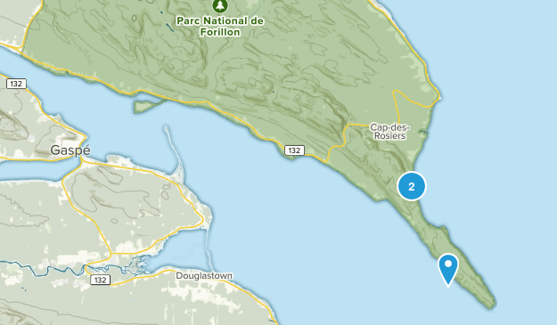 Gaspe, Quebec Map