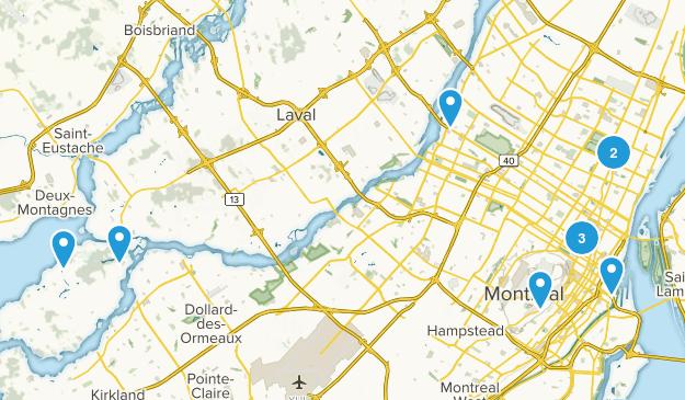 Montréal, Quebec Map