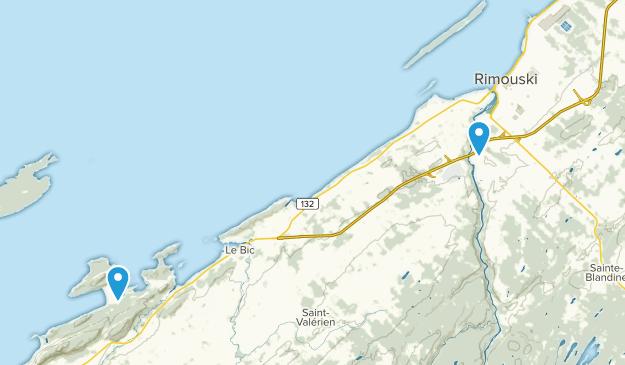 Rimouski, Quebec Map
